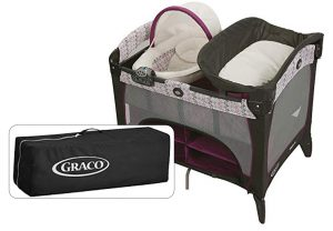 Best Travel Cribs: Graco Pack 'N Play Playard with Newborn Napperstation