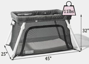 Guava Family Lotus travel crib Reviews: measurements and weight