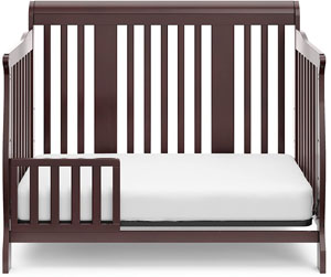 Stork Craft Tuscany 4-in-1 Convertible Crib - toddler bed with a safety guardrail