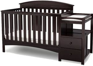 Best convertible crib with changing table: Delta Children Abby Convertible Crib and Changer