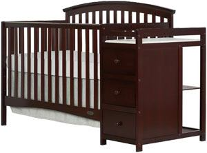 Best convertible crib with changing table: Dream On Me Niko 5-in-1 Convertible Crib with Changer