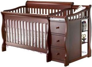 Best convertible crib with changing table: Sorelle Tuscany 4-in-1 Convertible Crib and Changer Combo