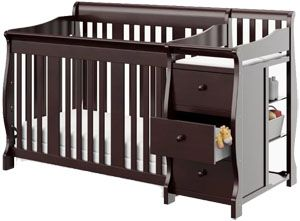 Best convertible crib with changing table: Stork Craft Portofino 4-in-1 Fixed-Side Convertible Crib Changer