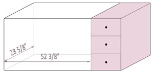 What is a crib with changing table - the measurements