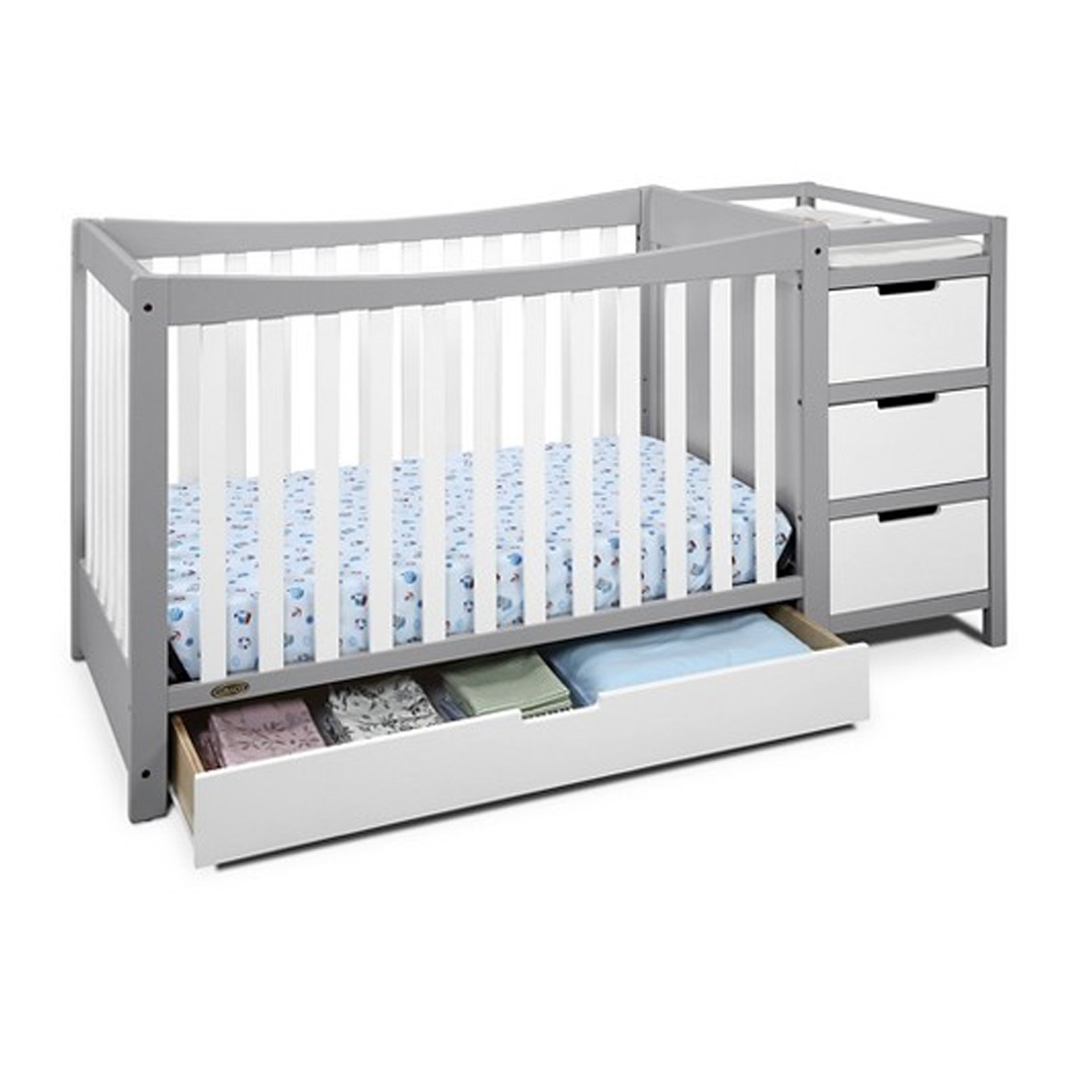 Best Convertible Cribs With Changing Table Underneath Storage