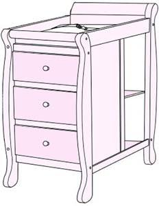 What is a crib with changing table - the changer