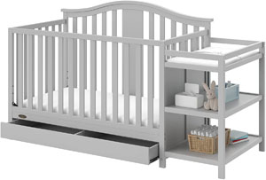 Graco Solano 4-in-1 Convertible Crib and Changer with Drawer
