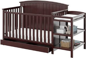 Storkcraft Steveston 4-in-1 Convertible Crib and Changer with Drawer