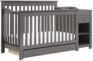 Best cribs with under crib storage drawer: DaVinci Piedmont 4-in-1 Crib and Changer Combo
