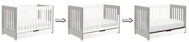 Babyletto Mercer 3-in-1 Convertible Crib with under-crib storage drawer