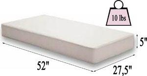 Moonlight Slumber Little Dreamer crib mattress Specifications