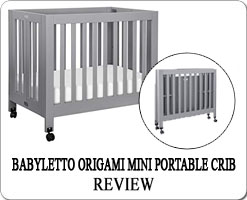 The Best portable folding cribs on wheels - Babyletto Origami mini crib