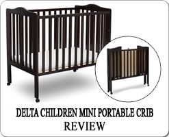 The Best portable folding cribs on wheels - Delta Children mini crib