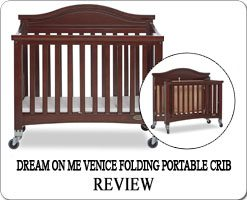 The Best portable folding cribs on wheels - Dream On Me Venice mini crib