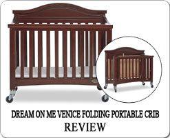 The Best portable folding cribs on wheels - Dream On Me Venice mini crib