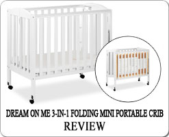 The Best portable folding cribs on wheels - Dream On Me
