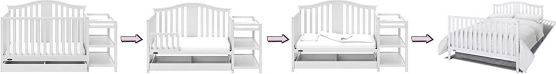 Storkcraft Stevenson 4-in-1 convertible crib with changer and drawer