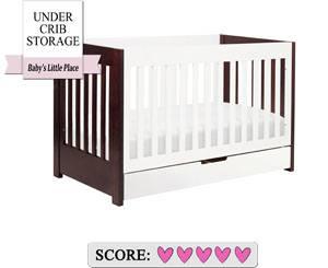 The best baby crib with under crib storage drawer - Babyletto Mercer