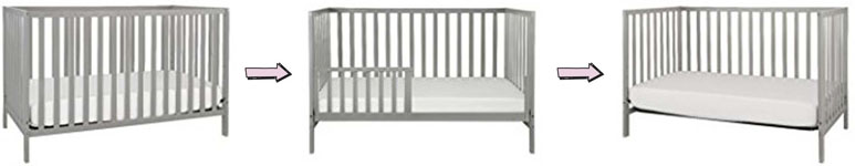 Union 3-in-1 cheap convertible crib