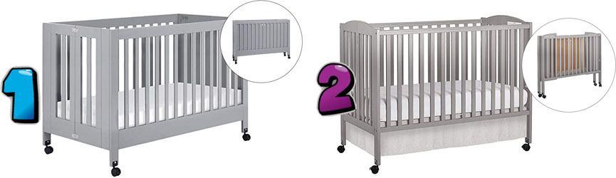 Best portable folding crib on wheels
