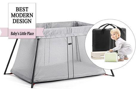 Best travel crib with a modern design: BABYBJORN Travel Crib Light