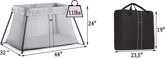 Best travel cribs: BABYBJORN Travel Crib Light