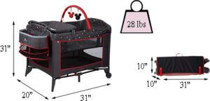 Best travel cribs: Disney Sweet Wonder Playard