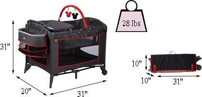 Best travel cribs: Disney Sweet Wonder Playard