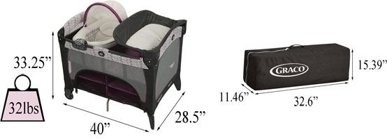 Best travel cribs: Graco Pack 'n Play Newborn Seat DLX Playard