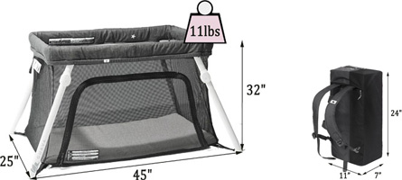 Best travel cribs: Guava Family Lotus travel crib