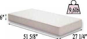 Colgate Eco Classica baby crib mattress dimension