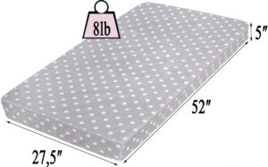 Milliard crib mattress and toddler bed mattress measurements