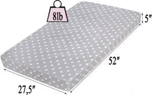 Milliard crib mattress and toddler bed mattress measurements