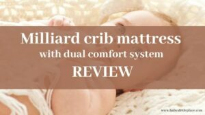 Milliard crib mattress with a dual comfort system