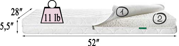 Newton Wovenaire baby crib mattress Review - The Specifications