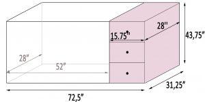 Best combo cribs: Delta's Children Abby measurements
