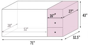 Storkcraft Portofino's measurements