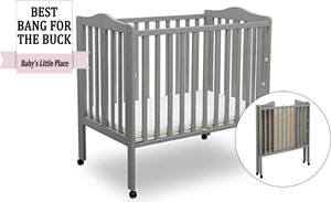 Best rated portable cribs: Delta Children Folding Mini Baby Crib