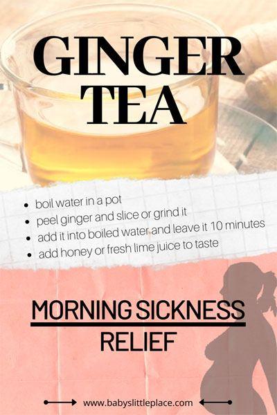 Best ginger tea for morning sickness