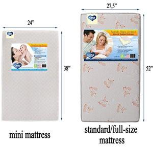Delta Children mini vs. full-size baby crib mattress