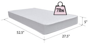 Safety 1st Heavenly Dreams Crib and Toddler Mattress Specifications