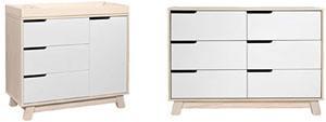 Babyletto Hudson dresser changer and Hudson 6-drawer double dresser