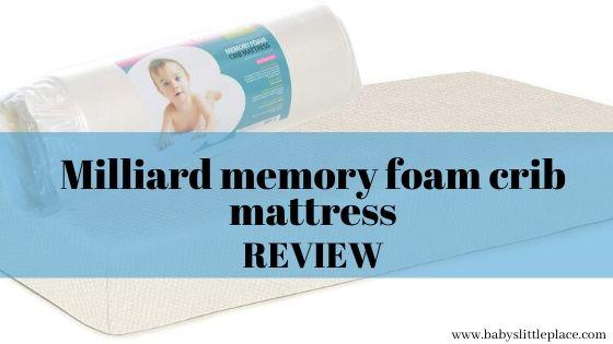 Milliard memory foam crib mattress review