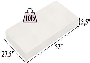 Milliard Memory Foam Crib Mattress Specifications