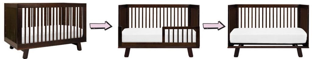 Babyletto Hudson 3-in-1 Convertible Crib's conversion