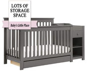 Best baby crib brands - Piedmont 4-in-1 convertible crib with changer