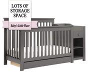 Best baby crib brands - Piedmont 4-in-1 convertible crib with changer