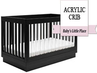 Best baby crib brands - Babyletto Harlow 3-in-1 acrylic crib