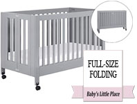 Best baby crib brands - Babyletto Maki full-size folding crib on wheels