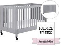 Best baby crib brands - Babyletto Maki full-size folding crib on wheels